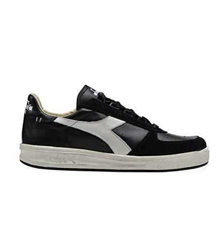 Diadora Heritage B. Elite H - Zapatillas de piel para hombre, color negro
