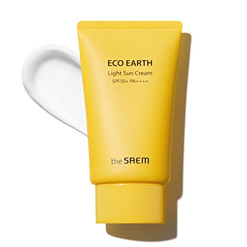 the SAEM Eco Earth Power Light Sun Cream SPF50+ PA+++ 50g
