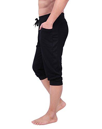 HDE Men's Cuffed Yoga Capri Pant