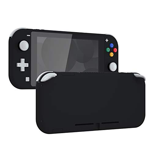 eXtremeRate Soft Touch Black DIY Replacement Shell for Nintendo Switch Lite, NSL Handheld Controller Housing w/Screen Protector, Custom Case Cover for Nintendo Switch Lite