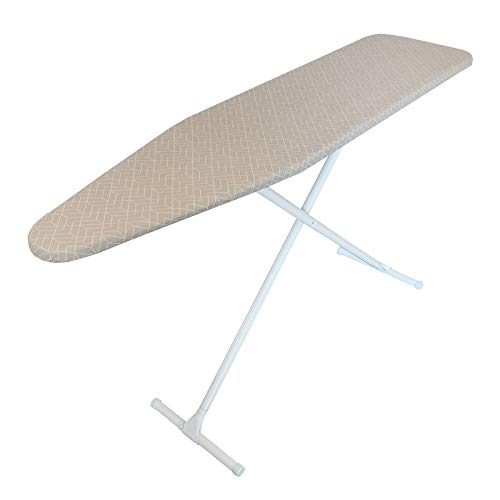 Homz T-Leg Steel Top Ironing Board, Geometric Gray