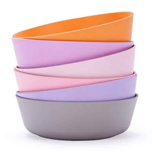 Product Image of the 6pcs Bamboo Kids Bowls (20 fl oz) for Baby Feeding, Toddler Bowls, Tableware for...