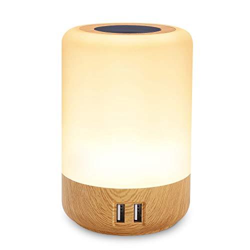 Lampe de chevet USB, led table lamp, avec 4 ports de chargem