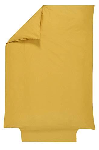 P'Tit Basile - Dekbedovertrek Baby - Kind - Afmetingen 100x140 cm - Katoen Organisch van Kwaliteit Top, 57 Garen / Cm2, Fijne Weave voor meer zachtheid - Verschillende kleuren beschikbaar 100x140 cm Gele Mosterd