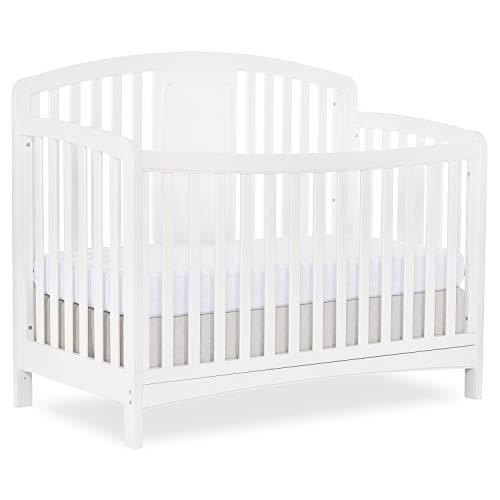 Slumber Baby 4-in-1 Convertible Crib, Dakota, White, Greenguard Gold Certified