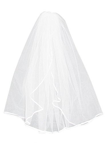 Queenshiny® Damen-Hochzeits-Weiß-Elegent Retro Schleier (Weiß)