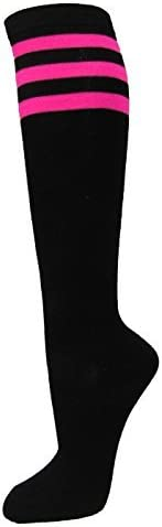 Couver Black Striped Knee High Casual safety Tube Quantity limited Cotton Socks Fashion