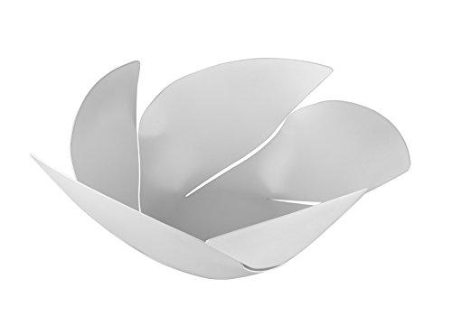 Alessi Twist Again OD02/29 W Centrotavola Moderno Portafrutta di Design, in Acciaio Colorato e Resina Epossidica, Bianco