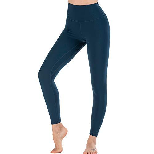 TBATM Leggins Sportivi da Donna, Confortevole per la Pelle Senza Cucitura Pantaloni Elastici di Fitness per Palestra Correre Allenamento Yoga Collant di Base Dimagrante,J,S
