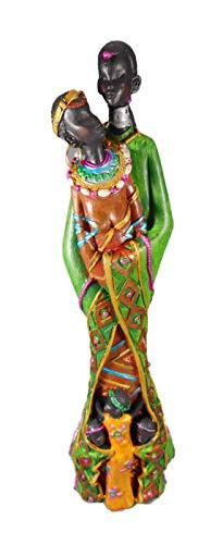 Massai Familie 26 cm Afrika Kinder Style Kunst Figur Skulptur Deko GCG 0020 B