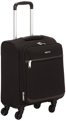 AmazonBasics Softside Carry-On Spinner Luggage Suitcase - 18.5 Inch, Black