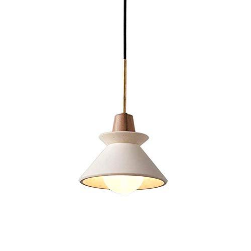 Belief Rebirth Nordic verstellbare Betonleuchte Pendelleuchte - Moderne industrielle Hängeleuchte im Edison-Stil mit Zementschirm in Weiß