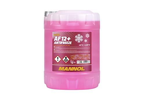 MANNOL 15778800000 Kühlerfrostschutz AF12+ -1x10 Liter rosa bis-40°C für G12+ Frostschutz