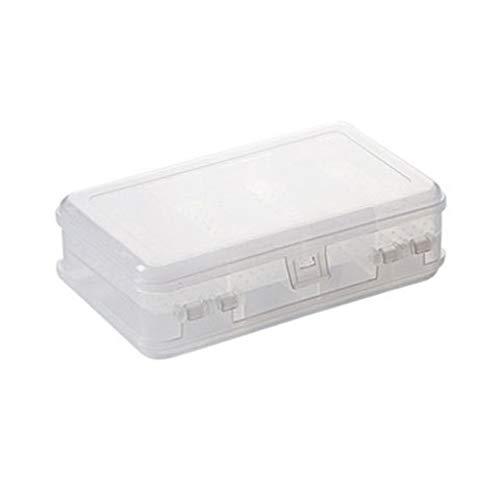Calvinbi Big Sales - Caja de plástico rectangular para almacenamiento de medicinas y joyas, organizador para anillos, collares, pulseras, pendientes