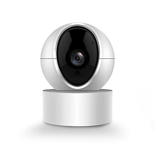 PGST Caméra Surveillance WiFi Intérieure Caméra 350° Connectée Smartphone 1080P avec Détection Humaine AI Suivi Intelligent Sirène Audio Bidirectionnel Compatible Alexa pour Bébé/Animaux
