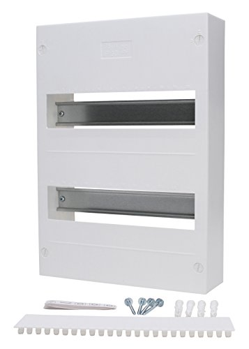 Kopp 344612008 Aufputz-Verteilerkasten ohne Tür, für 24 Pole, 2-reihig, IP30, mit Klemmleiste und Zubehör