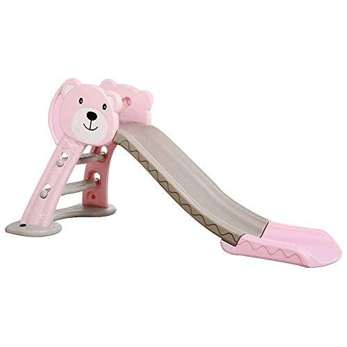 XWX Slide Juguete De Plástico Plegable Inicio De Diapositivas For Niños Interiores (Color : Pink)