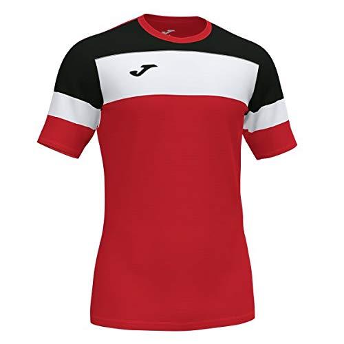 Joma Crew IV Camisetas Equip. M/C, Hombre, Rojo-Negro