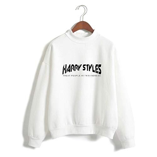 XSG Harry Styles T-Shirt Unisex Langarm-Sweatshirt Mit Hohem Kragen Schwarz