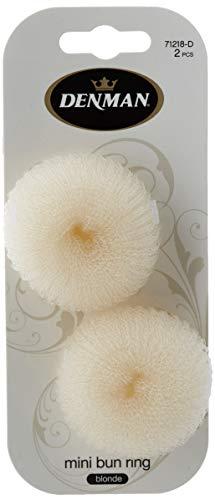 Denman Knotenring für Dutt, klein, blond, Durchmesser 6 cm, 2 Stück