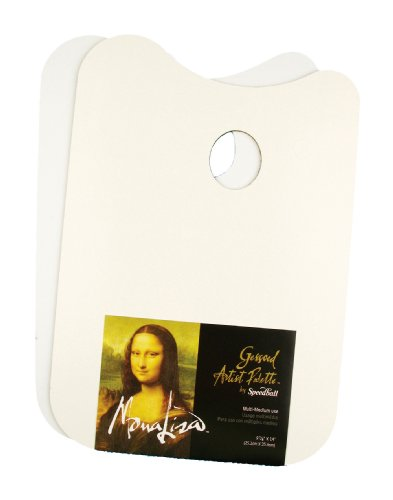 Speedball Mona Lisa 10-Inch-by-14-Inch Gessoed Artists Palette