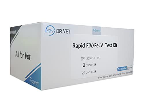 SmileCare DR.Vet Pet Feline Rapid FIV/FeLV HIV and Leukemia in Vitro...