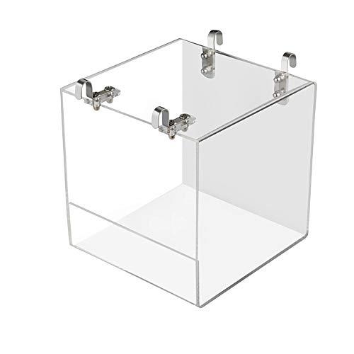 DEDC 1 Stück Vogelbadewanne Badewanne Dusche Box Schüssel mit Haken Käfig Zubehör für kleine Vögel Papageien Schopfmyna