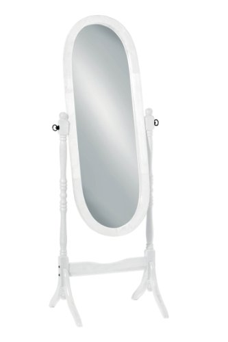 Premier Housewares - Espejo de pie de madera, color blanco