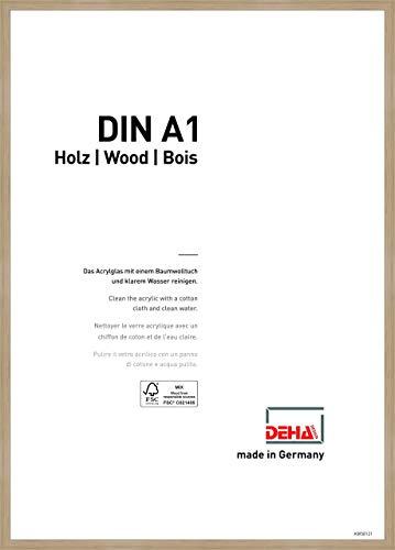 DEHA Holz Bilderrahmen Fontana, 59,4x84,1 cm (A1), Eiche