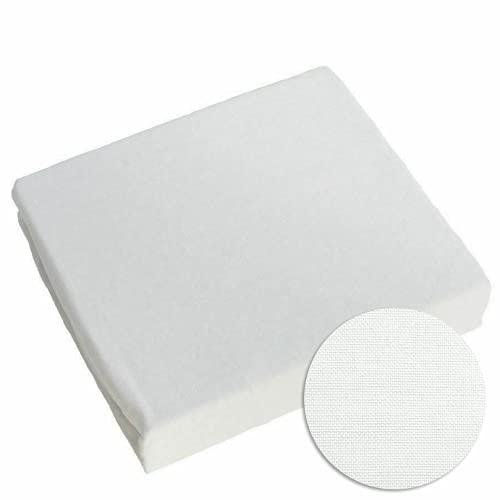 La sábana Ajustable 100% algodón para bebés se Adapta a la Cama de 160 x 70 (Blanca)