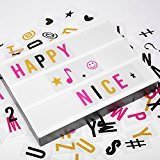 Cinema Light Box, M.Way LED Letters Light Box with 3 Colors 204 Letters DIY Combination for Wedding, Home, Birthday Party, Store Sign, Photoshoots Wall Decorating, A4 Size, USB or Battery Powered
