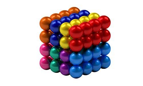 myHodo bunte Magnetkugeln 5mm, Stresskiller, Magnet Balls, extra starke Magnete für Magnettafel und Kühlschrank, Anti Stress Geschenk, Magnetic Balls, vielseitiges Office Gadget (64 Stück,8 Farben)