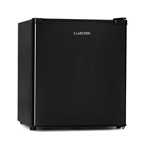 Klarstein Garfield Eco - Capacité 34 litres, Congélateur 4 étoiles, 117 kWh/an, 2 niveaux, 41 dB, Tablette amovible, Autonome, Gain de place, Environ 44 x 51 x 47 cm (LxHxP), noir
