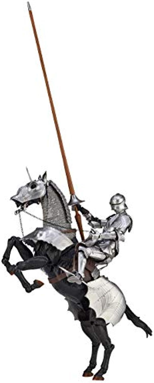 KT Project KT-027 Takeya Jizai-okimono 15th Century Gothic Equestrian Armor (Silber) Action Figure