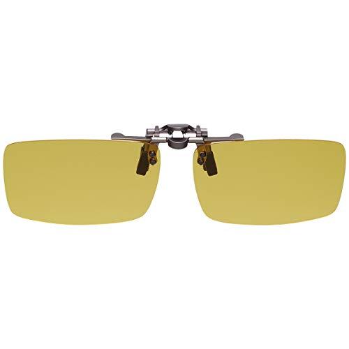 GoodsLand 【 8color 】 クリップオン サングラス 偏光 釣り 運転 調光 眼鏡 メガネ クリップ式 メンズ レディース GD-CL-GLASS-YE