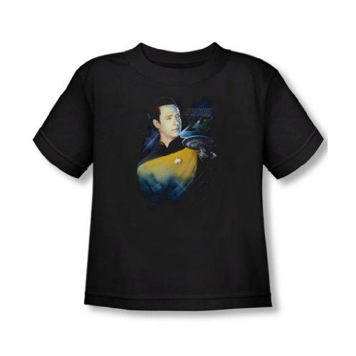 Star Trek - - Données-T-Shirt 25 In Black, 4T, Black