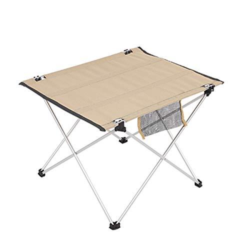 YOLER キャンプテーブル 折りたたみ アウトドア ロールテーブル 収納バッグ付 軽量 アルミ 41x55x42cm