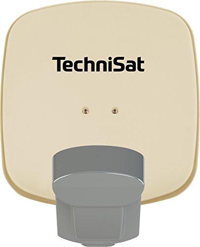 TechniSat Multytenne Quattro Satellitenschüssel (45cm Sat-Anlage, 4 Orbitpositionen, 1 Teilnehmer) beige