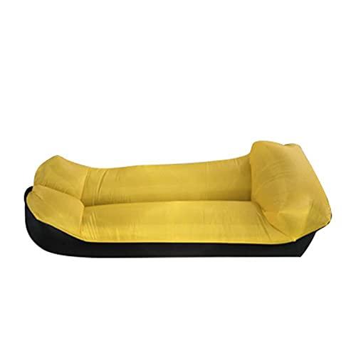 WDL Aufblasbare Liege Aufblasbares Sofa Outdoor Tragbar Wasserdicht & Anti-Air Leaking Lounger Air Sofa Hängemattenstuhl für Pool, Strand, Partys, Reisen, Camping, Picknick D-240cm*70cm