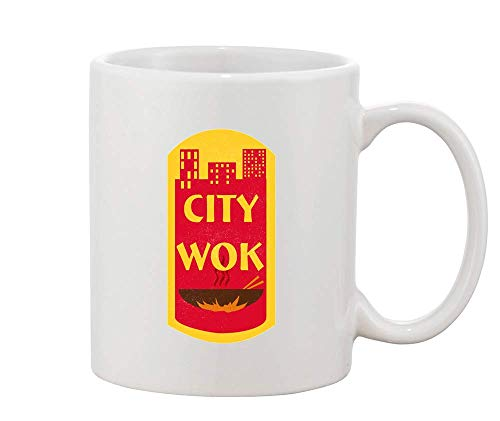Finest Prints City Wok Historic CtPaTown White Ceramic Coffee and Tea Mug