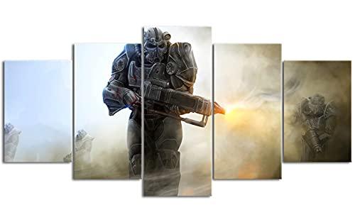 5 carteles consecutivos Fall_out Radiation crisis Pinturas murales 78.7 'x39.4' Necesidades de la habitación Necesita usarse con el marco