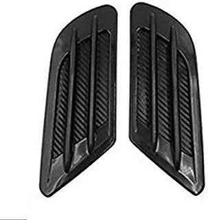 ZYHW Car Air Flow Sticker Carbon Fiber Print Adhesive Side Vent Fender Intake Decor Black 2Pcs