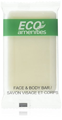 ECO AMENITIES Travel size 1oz hotel soap in bulk, White, Green Tea, 200 Count