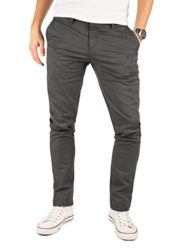 Yazubi Chino Hose grau Kyle by Yzb Jeans graue Herren Stoffhose lang Chinohose Business Männer Stretch, Grau (Iron Gate 193910), W38/L36