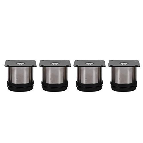 4 Stück Möbel Füße Metall Schrank Beine Küche Verstellbar Edelstahl Füße Rundständer (60 X 60 Mm)