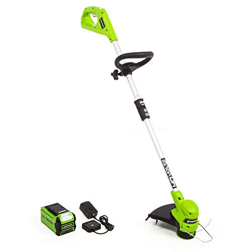 Greenworks 2111702 40-Volt 12-Inch String Trimmer with 2.0 Ah Battery and Charger Included