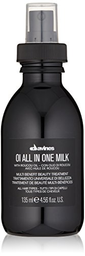 Davines OI All in One Milk | Hair Milk Spray | Powerful Hair Detangler + Heat Protection | Smoothes Frizzy Hair | 4.56 Fl Oz
