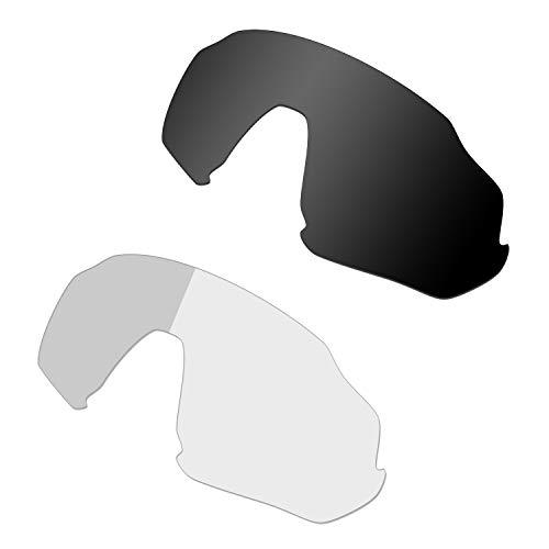 HKUCO Negro/Fotocrómico Polarizado Lentes de Repuesto para Oakley Flight Jacket Gafas de Sol