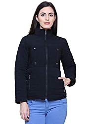 Mizago Womens Long Sleeves Blended Quilted Jacket