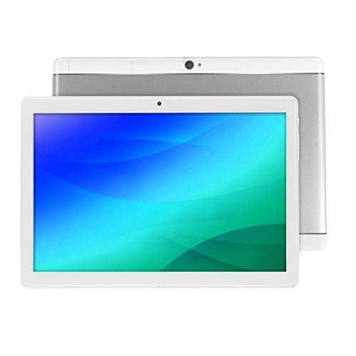 Android Tablet 10 Inch with Sim Card Slots - 10.1' 4GB RAM 64GB ROM Octa Core 3G Unlocked GSM Phone Tablet PC with WiFi Bluetooth FM GPS YouTube Netflix (Silver)